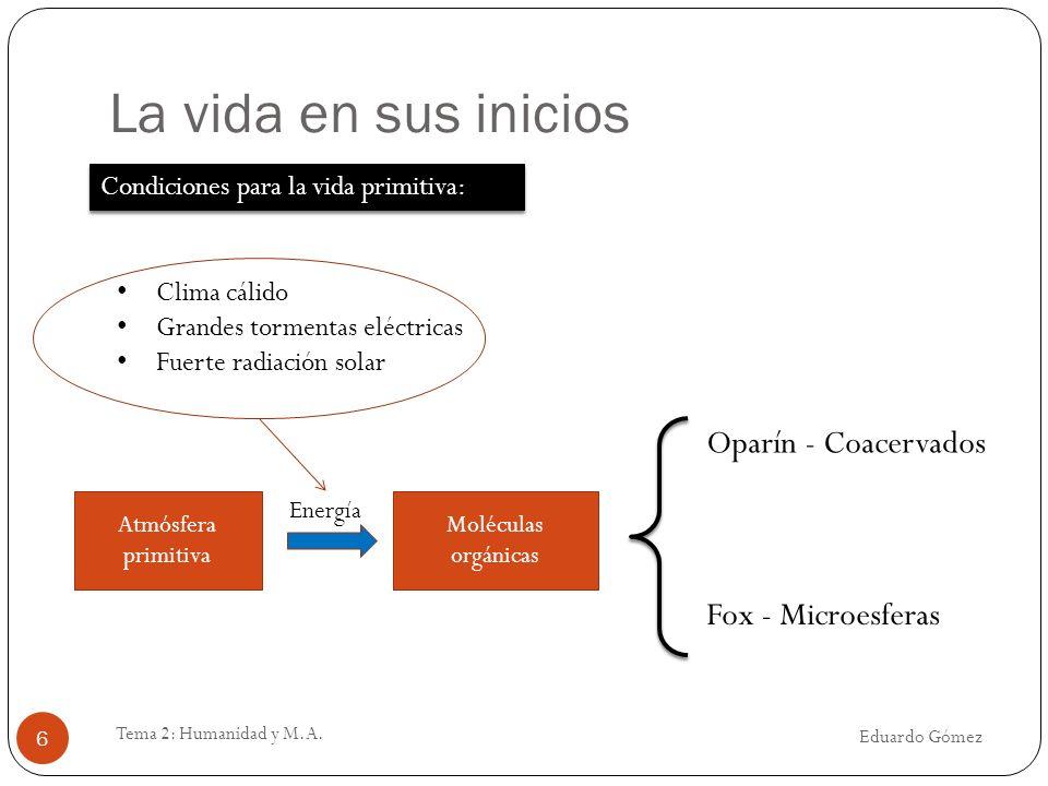 Clasificación de riesgos Eduardo Gómez Tema 2: Humanidad y M.A.
