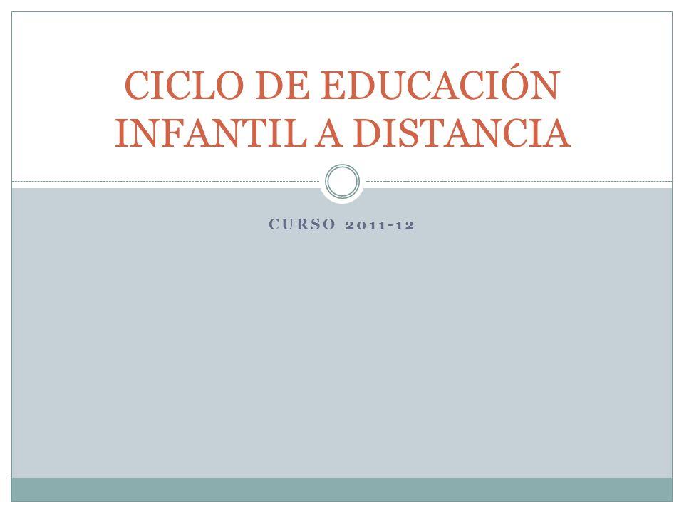 CURSO 2011-12 CICLO DE EDUCACIÓN INFANTIL A DISTANCIA