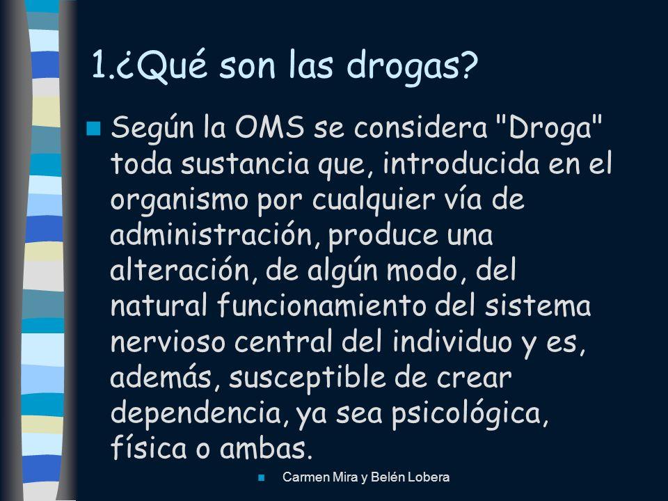 1.¿Qué son las drogas? Según la OMS se considera
