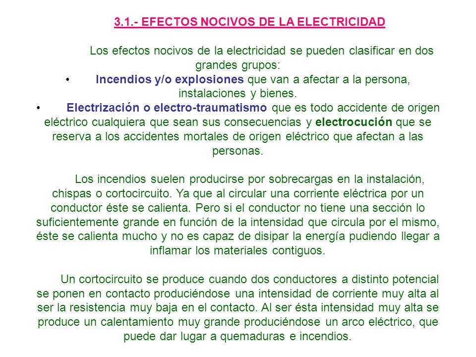 3.2.- TIPOS DE CONTACTO ELECTRICO.CONTACTO DIRECTO.