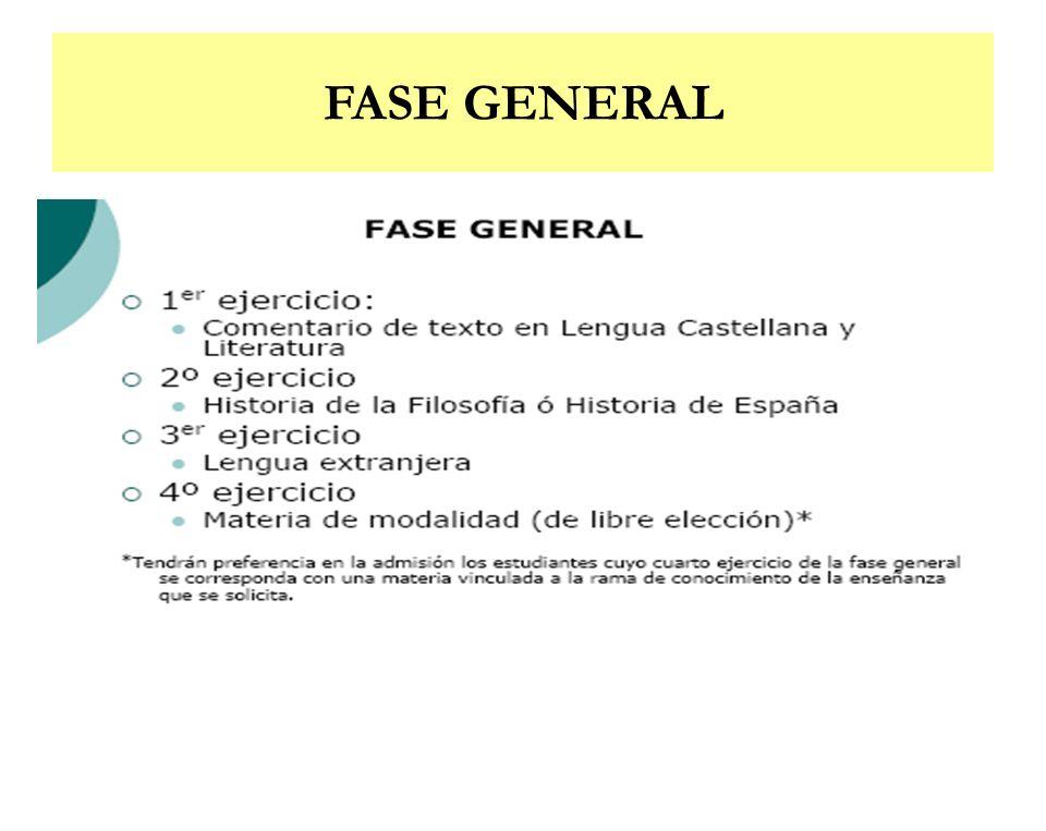 FASE GENERAL