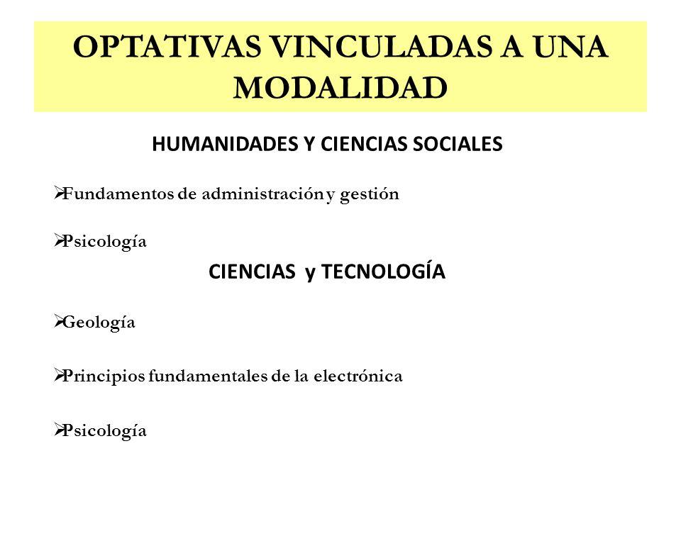HUMANIDADES Y CIENCIAS SOCIALES Fundamentos de administración y gestión Psicología CIENCIAS y TECNOLOGÍA Geología Principios fundamentales de la elect