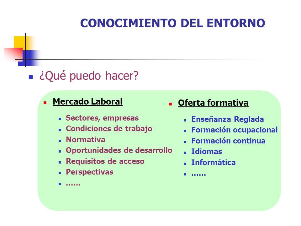 ¿Qué puedo hacer? Mercado Laboral Sectores, empresas Condiciones de trabajo Normativa Oportunidades de desarrollo Requisitos de acceso Perspectivas...
