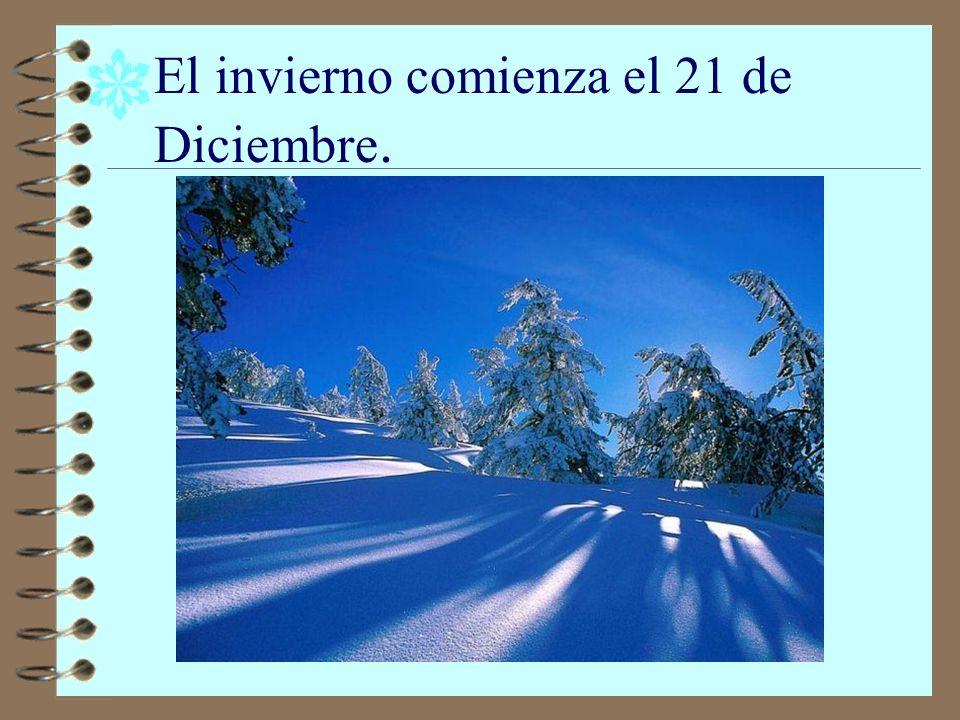 El invierno comienza el 21 de Diciembre.