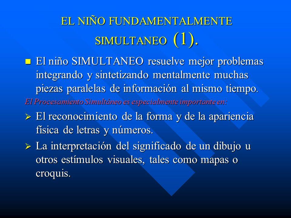 DIFICULTADES PARA UN A. SECUENCIAL(3) En la comprensión de principios matemáticos o científicos. En la comprensión de principios matemáticos o científ