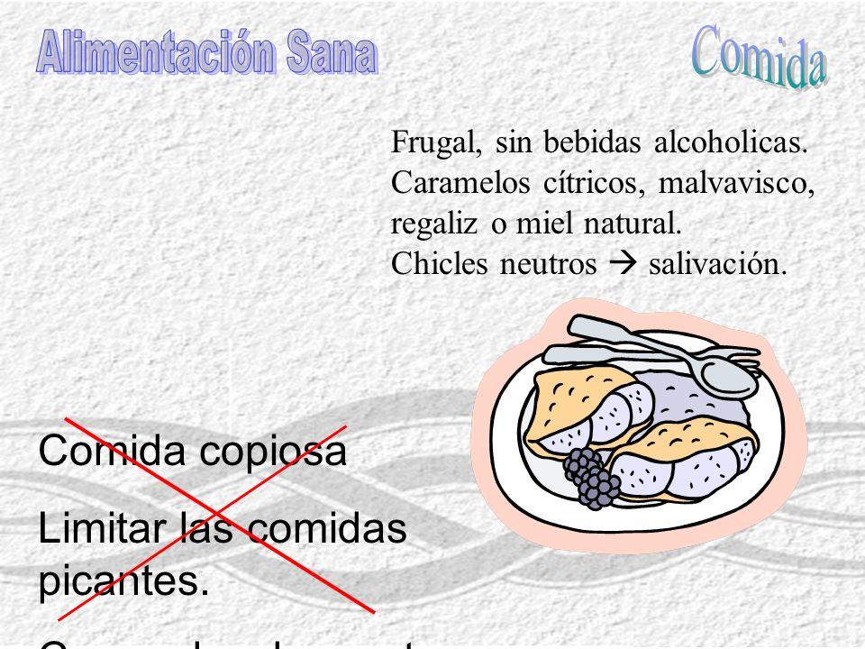 No utilices la voz ante laringitis ( lo más efectivo para curar una faringitis o laringitis es el silencio, los medicamentos la alivian ).