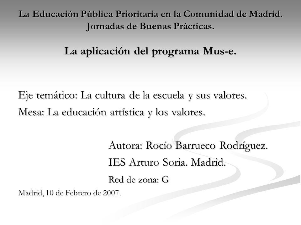 La Educación Pública Prioritaria en la Comunidad de Madrid.