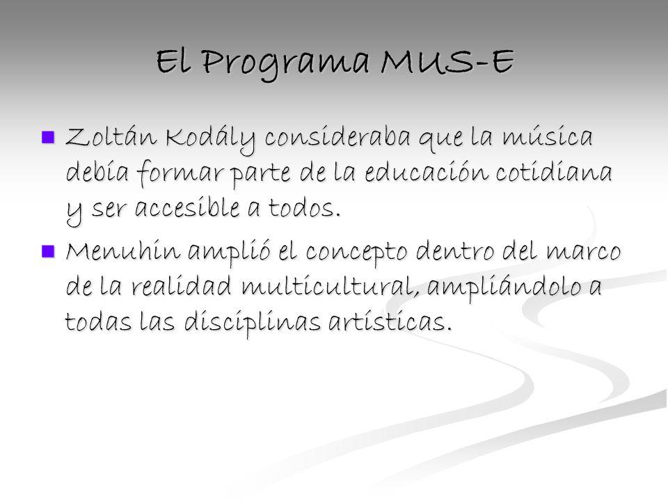 El Programa MUS-E Zoltán Kodály consideraba que la música debía formar parte de la educación cotidiana y ser accesible a todos.