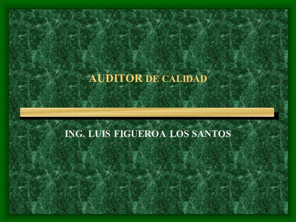 AUDITOR DE CALIDAD ING. LUIS FIGUEROA LOS SANTOS