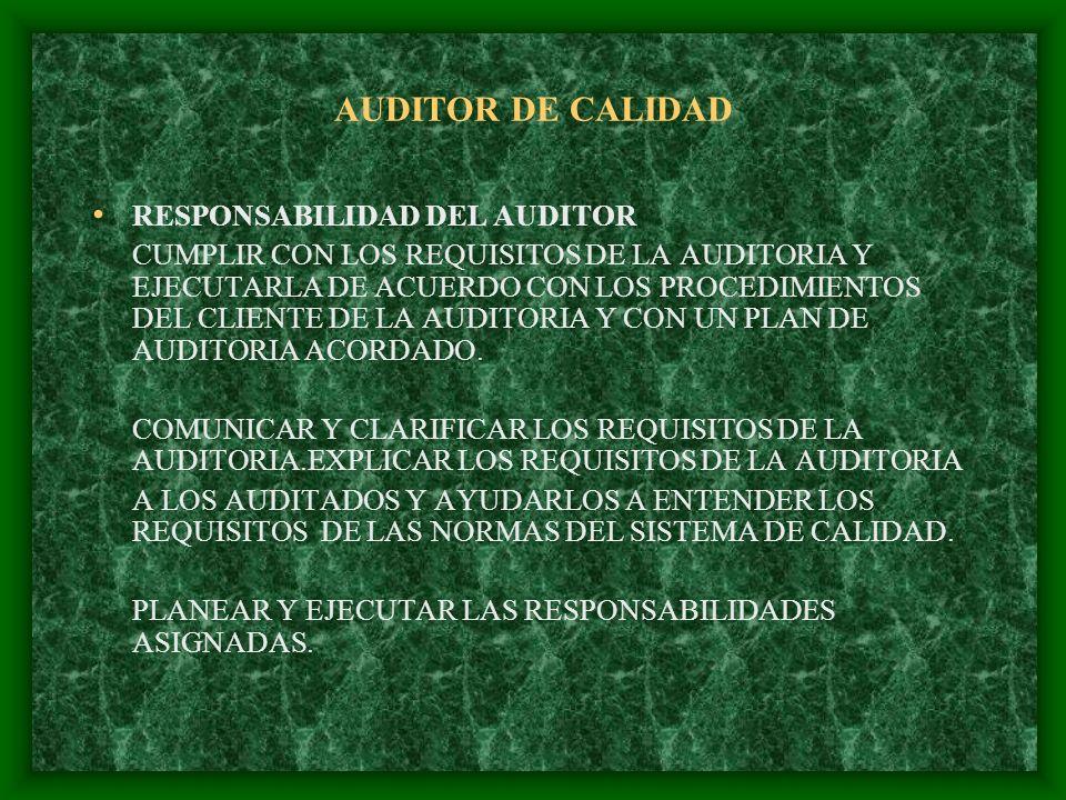 AUDITOR DE CALIDAD HABILIDADES DE PRESENTACION EXPRESAR CLARAMENTE JUICIOS, IDEAS Y PROPUESTAS ORALES Y ESCRITAS.