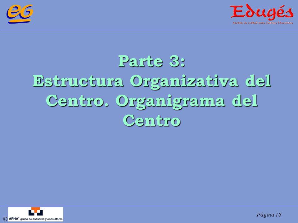 Página 18 © Parte 3: Estructura Organizativa del Centro. Organigrama del Centro