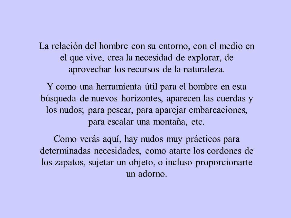 PARA LOS ESCALADORES, LOS BOMBEROS, LOS ESPELEÓLOGOS, LOS MARINEROS Y TODOS LOS QUE TRABAJAN CON CUERDAS, ES UN NUDO IMPRESCINDIBLE, Y LO SABEN HACER DE MUCHAS FORMAS, NOSOTROS NOS CONFORMAMOS CON UNA: ATENTO.