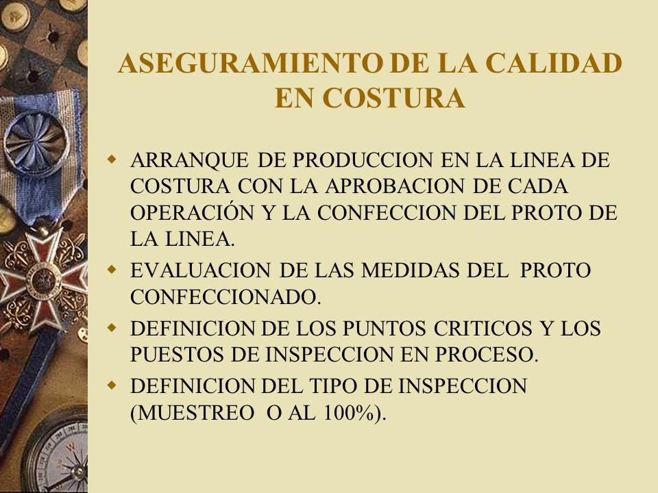 ASEGURAMIENTO DE LA CALIDAD EN COSTURA AUDITORIA EN PROCESO DE COSTURA A LOS OPERARIOS CONOCIMIENTOS ESPECIFICOS DE LA OPERACIÓN.