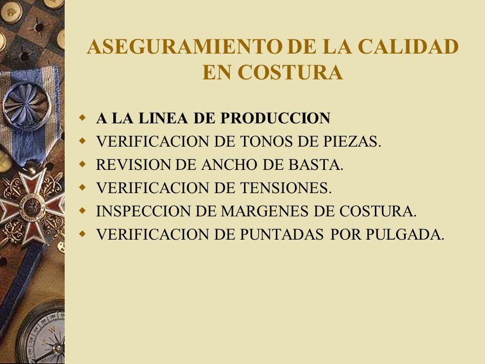 ASEGURAMIENTO DE LA CALIDAD EN COSTURA EN MAQUINAS DE COSTURA REVISION DE LA PRESION DEL PRENSATELA.