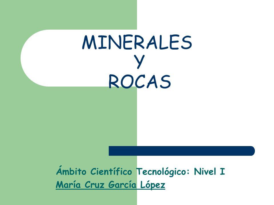 María Cruz Gacía López 2 ¿Qué es un mineral.