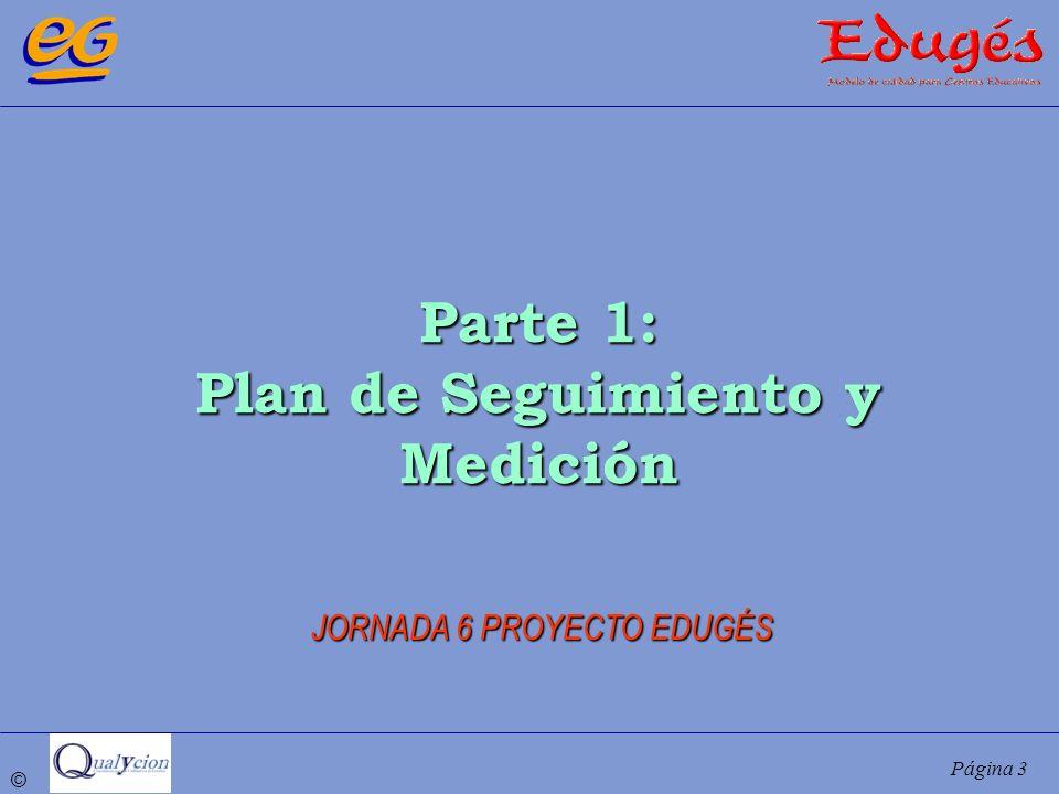 © Página 3 Parte 1: Plan de Seguimiento y Medición JORNADA 6 PROYECTO EDUGÉS