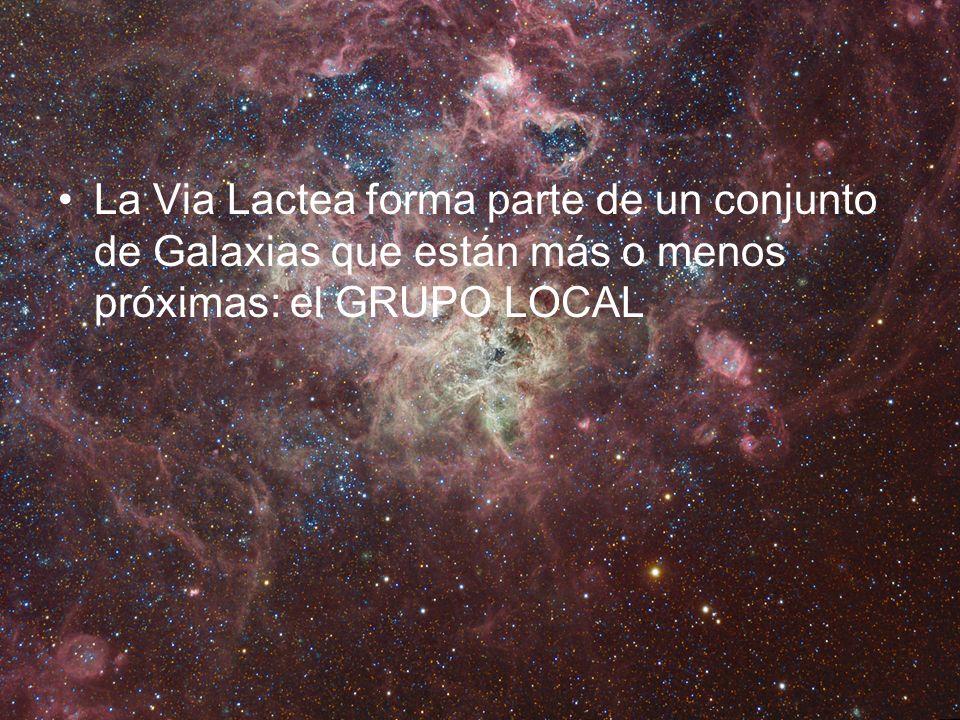 La Via Lactea forma parte de un conjunto de Galaxias que están más o menos próximas: el GRUPO LOCAL