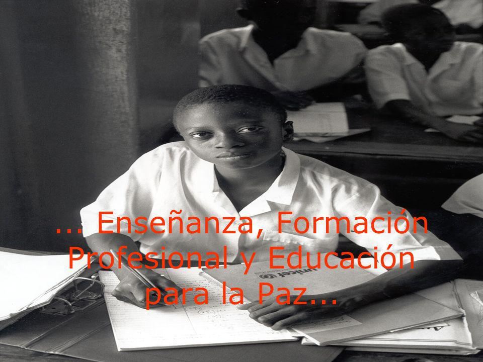 ... Enseñanza, Formación Profesional y Educación para la Paz...