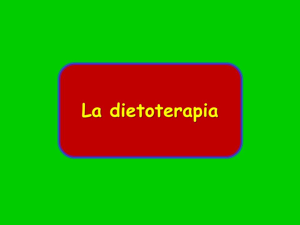 La dietoterapia