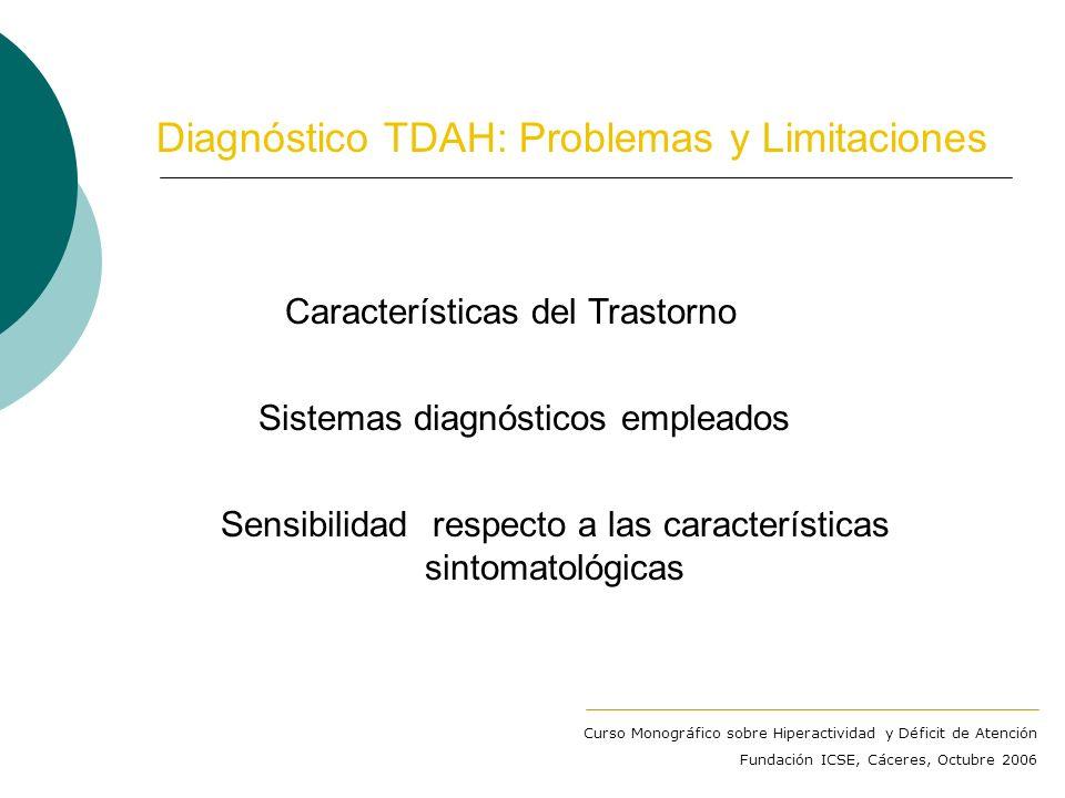 Trastorno por Déficit de Atención con Hiperactividad DSM-IV-TR (APA, 2000) TDAH tipo con predominio de Déficit de Atención (4,5 – 9%. + adolescencia)