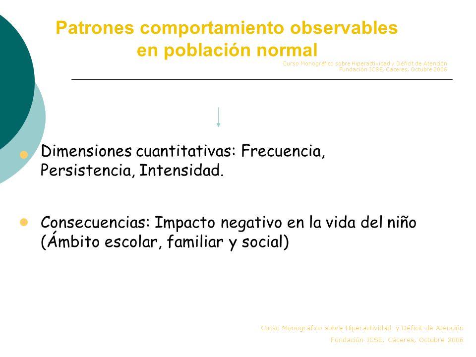 Identificación y Diagnóstico TDAH: Problemas y Limitaciones TDAH patrones comportamiento observables en población normal Comorbilidad Variabilidad de