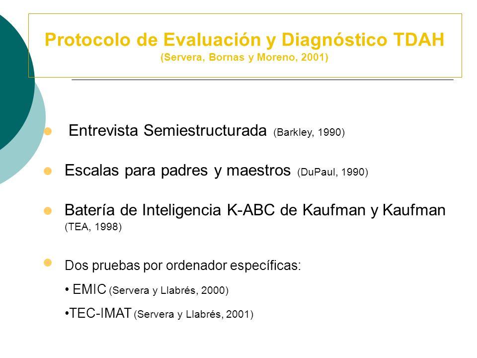 Registros de Observación Conductual Tratamiento Cognitivo – Conductual Código de Observación de Conducta en el Aula (Abikoff y Gittelman, 1985) (Adapt