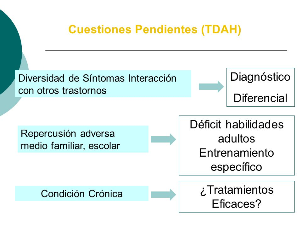 Entrevista Semiestructurada (Barkley, 1990) Escalas para padres y maestros (DuPaul, 1990) Protocolo de Evaluación y Diagnóstico TDAH (Servera, Bornas