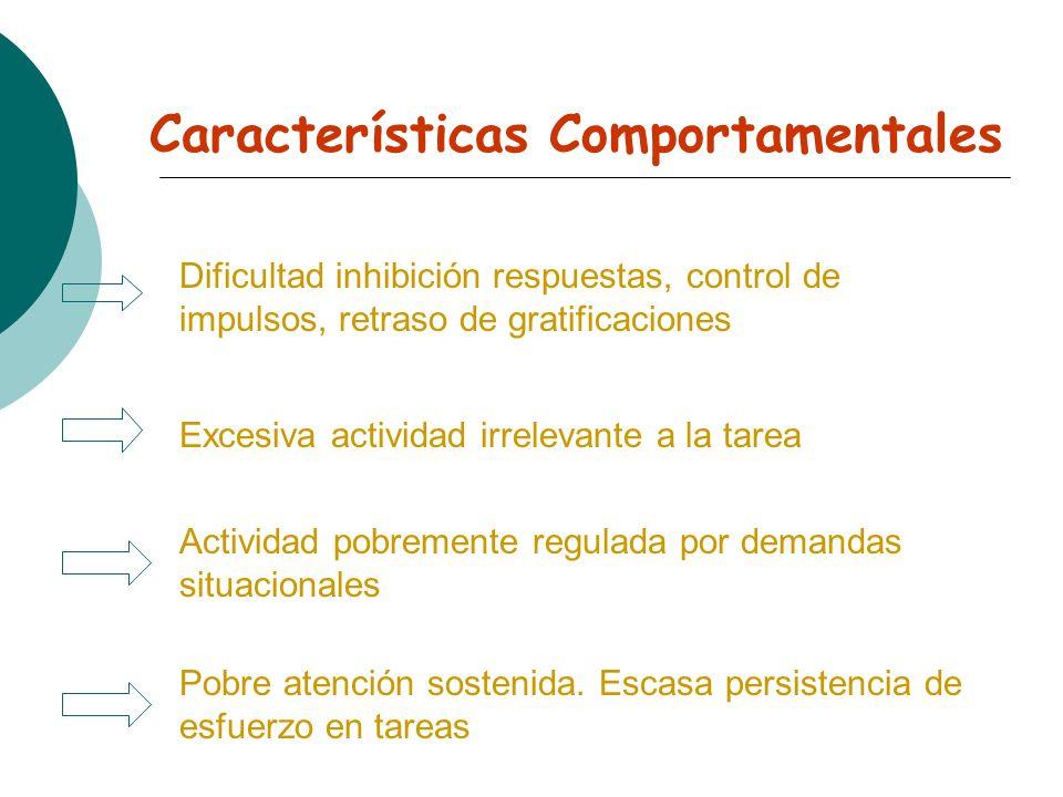 Características Trastorno TDAH Cronicidad Incidencia: Áreas y ámbitos afectados Comorbilidad Heterogeneidad conductual Etiología Multifactorial