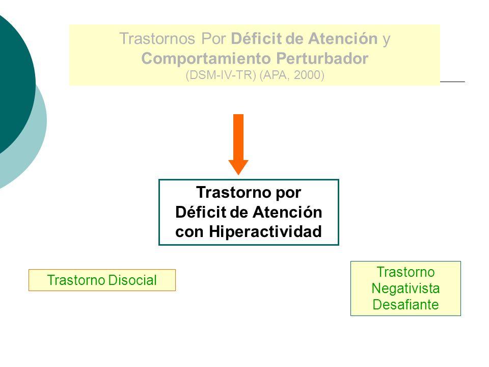 Curso Evolutivo (TDAH) (Dermontt, 2002; Barkley, 2004) Síntomas Atencionales tienden a persistir Sintomatología Hiperactiva-Impulsiva disminuye o modi