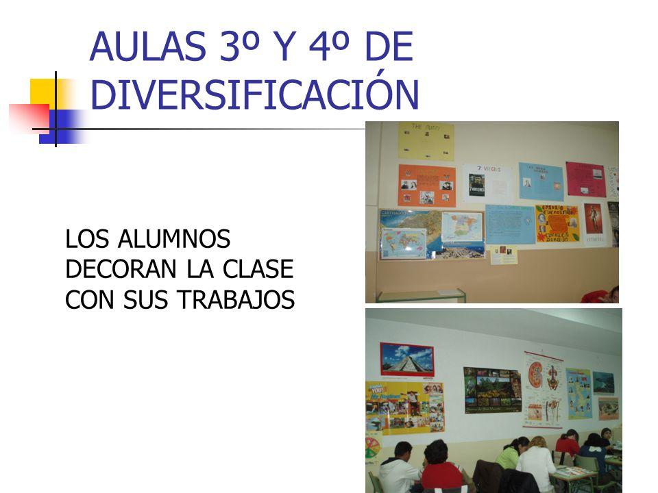 AULAS 3º Y 4º DE DIVERSIFICACIÓN LOS ALUMNOS DECORAN LA CLASE CON SUS TRABAJOS