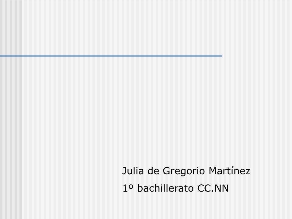 Julia de Gregorio Martínez 1º bachillerato CC.NN