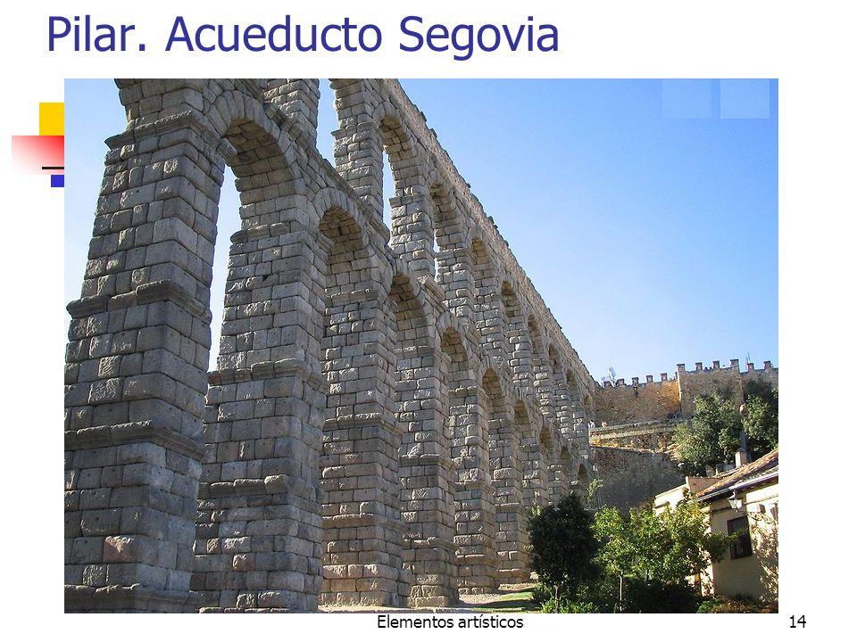 Elementos artísticos14 Pilar. Acueducto Segovia