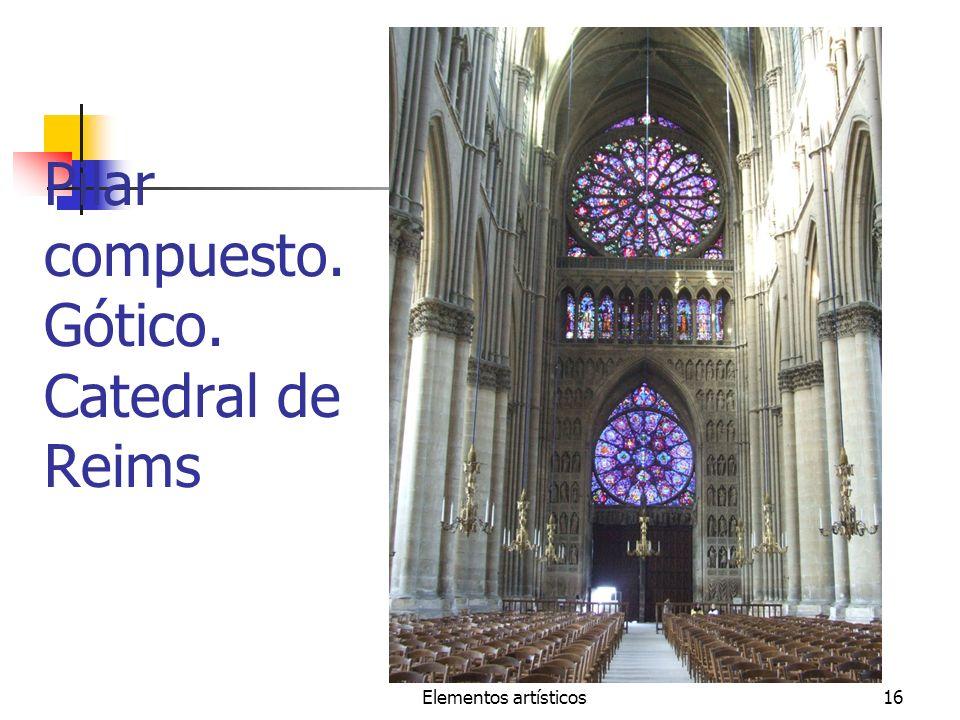 Elementos artísticos16 Pilar compuesto. Gótico. Catedral de Reims