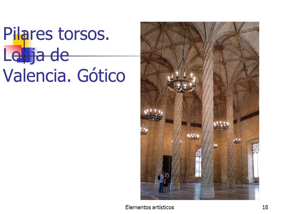 Elementos artísticos18 Pilares torsos. Lonja de Valencia. Gótico