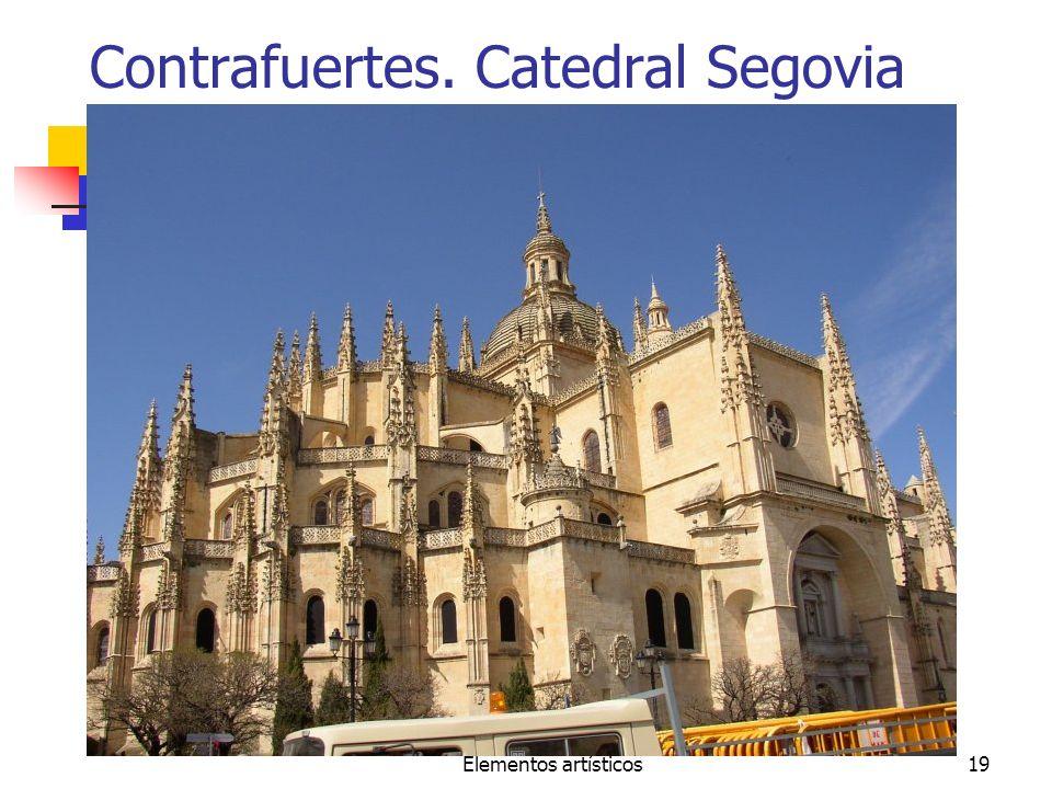 Elementos artísticos19 Contrafuertes. Catedral Segovia