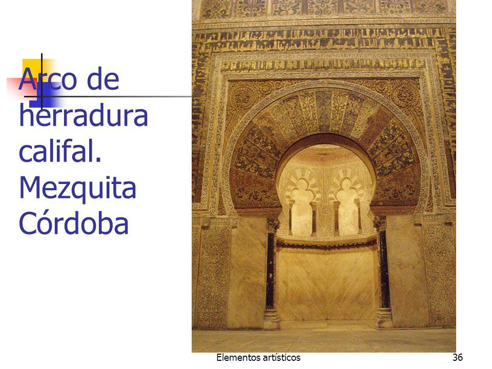 Elementos artísticos36 Arco de herradura califal. Mezquita Córdoba