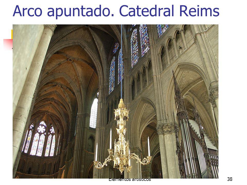 Elementos artísticos38 Arco apuntado. Catedral Reims