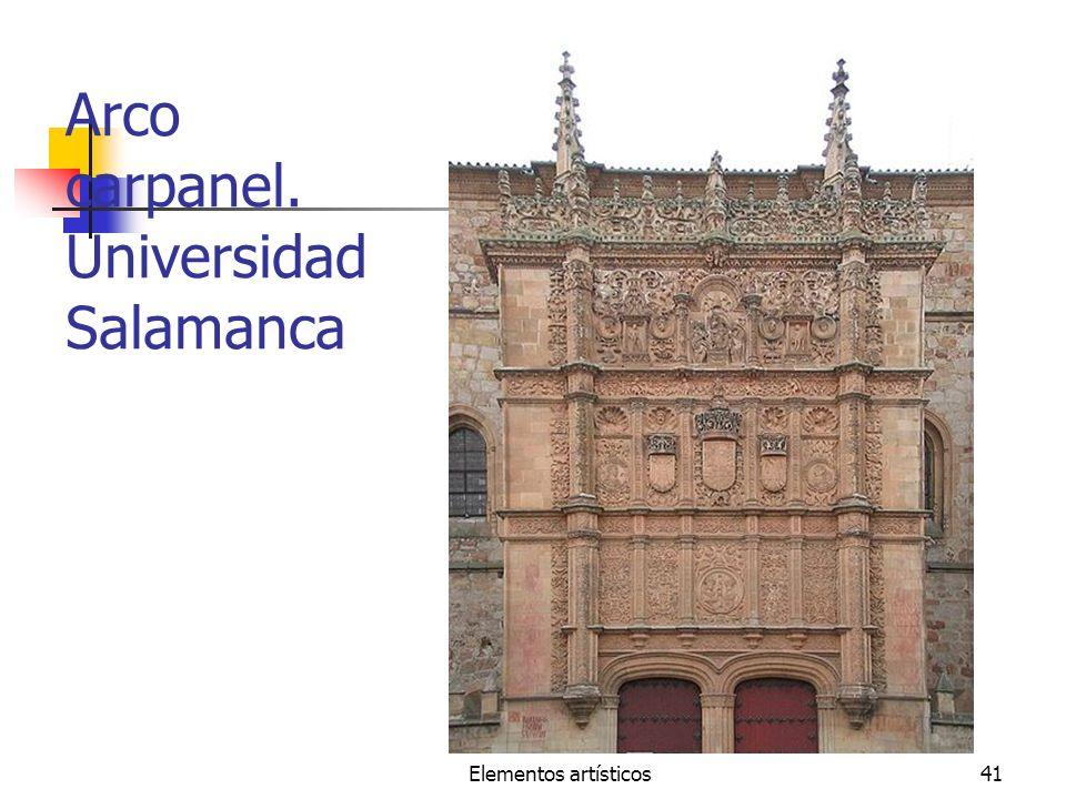Elementos artísticos41 Arco carpanel. Universidad Salamanca