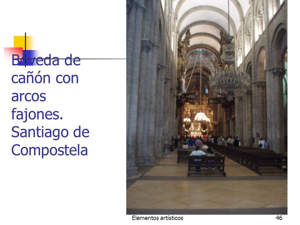 Elementos artísticos46 Bóveda de cañón con arcos fajones. Santiago de Compostela