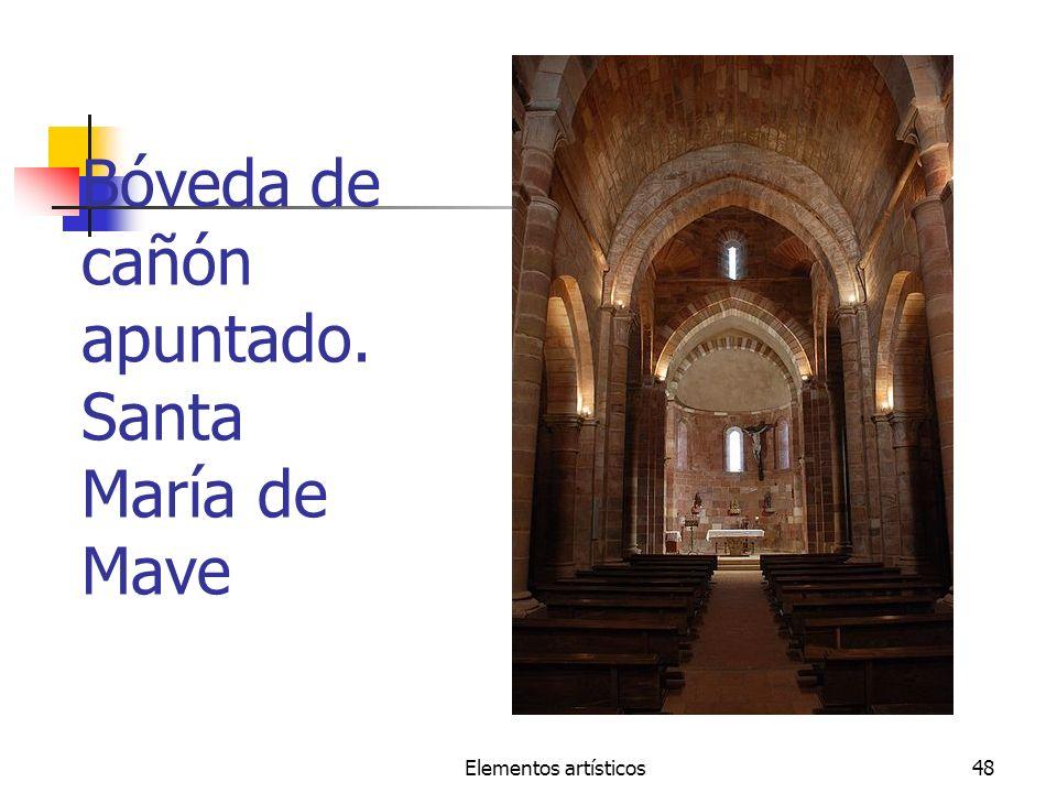 Elementos artísticos48 Bóveda de cañón apuntado. Santa María de Mave