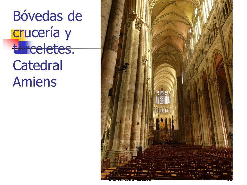 Elementos artísticos50 Bóvedas de crucería y terceletes. Catedral Amiens