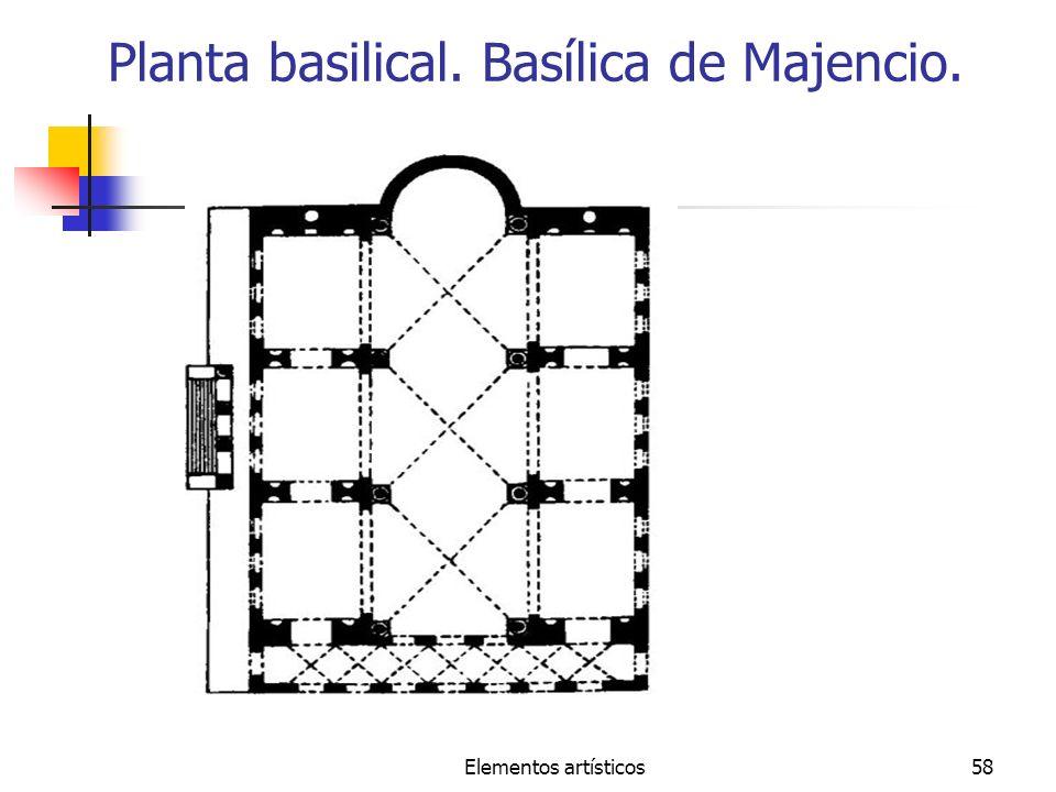 Elementos artísticos58 Planta basilical. Basílica de Majencio.