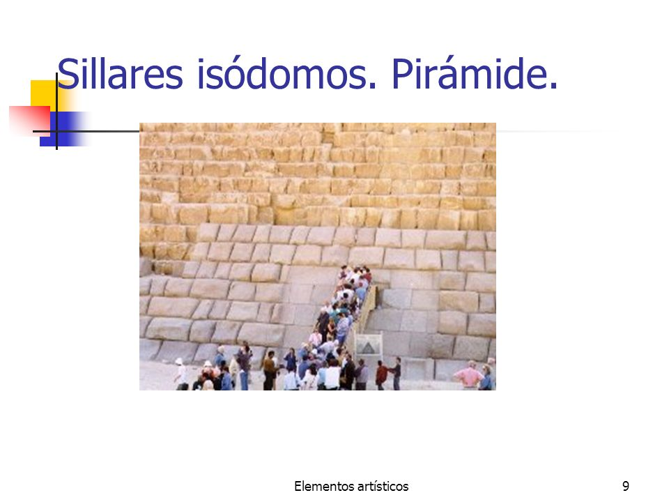 Elementos artísticos9 Sillares isódomos. Pirámide.