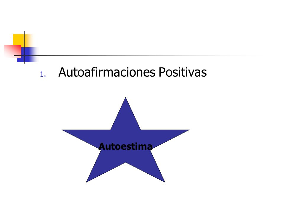 1. Autoafirmaciones Positivas Autoestima