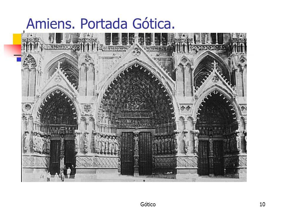 Gótico10 Amiens. Portada Gótica.