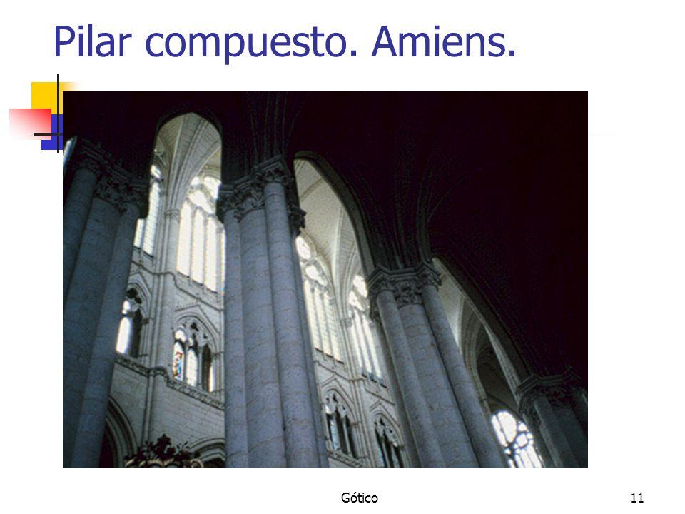 Gótico11 Pilar compuesto. Amiens.