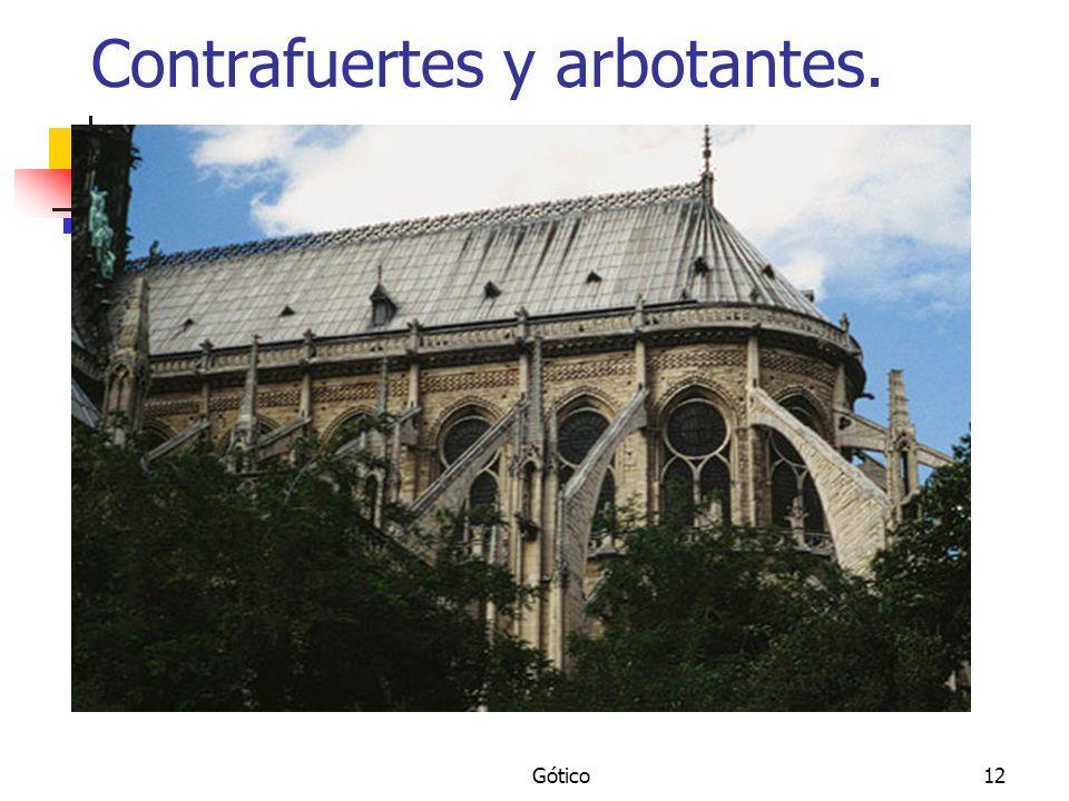 Gótico12 Contrafuertes y arbotantes.
