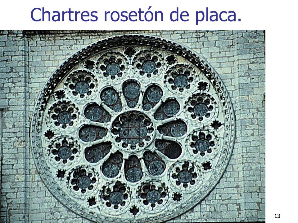Gótico13 Chartres rosetón de placa.