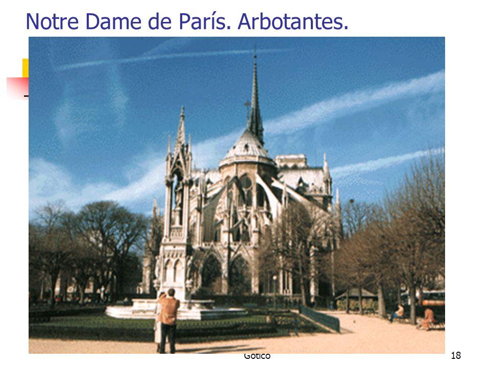 Gótico18 Notre Dame de París. Arbotantes.