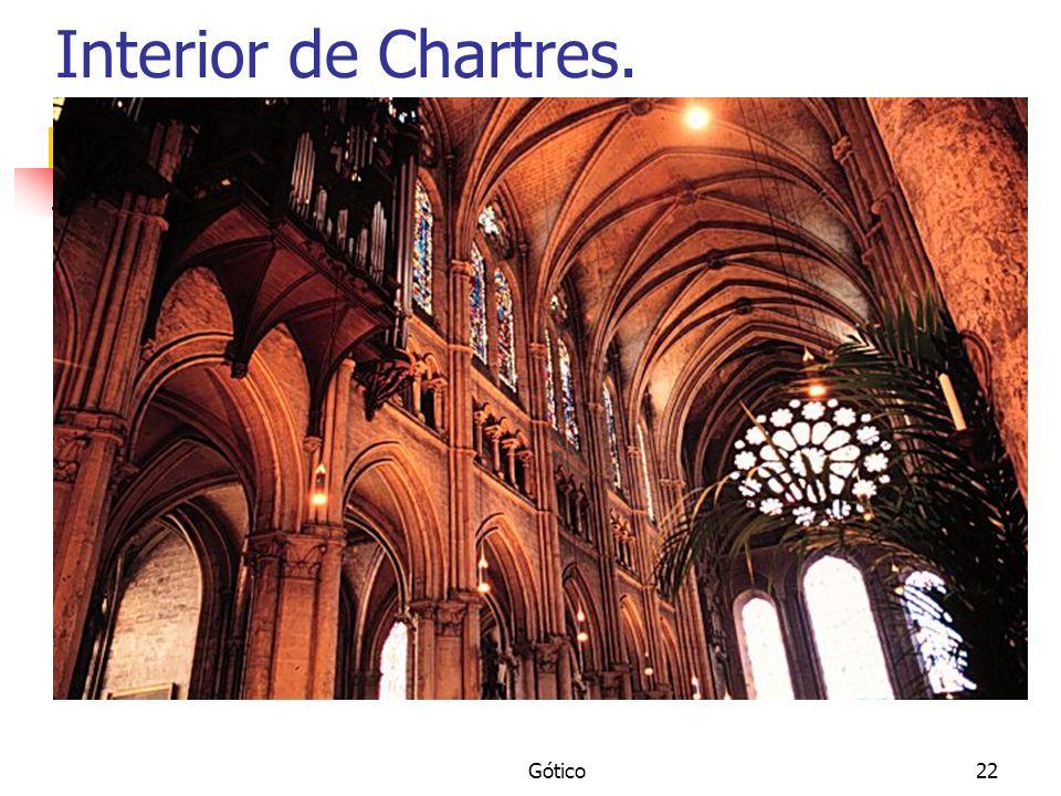 Gótico22 Interior de Chartres.